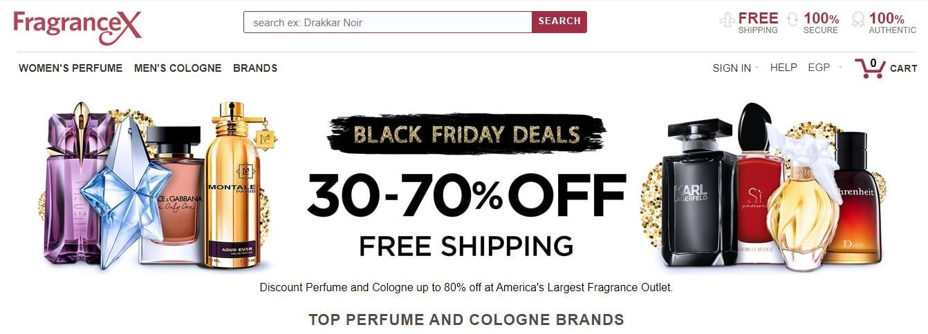 خوصمات البلاك فرايداى من موقع فراجرانس اكس Fragrancex عروض اليوم Perfume And Cologne Fragrance Outlet Discount Perfume