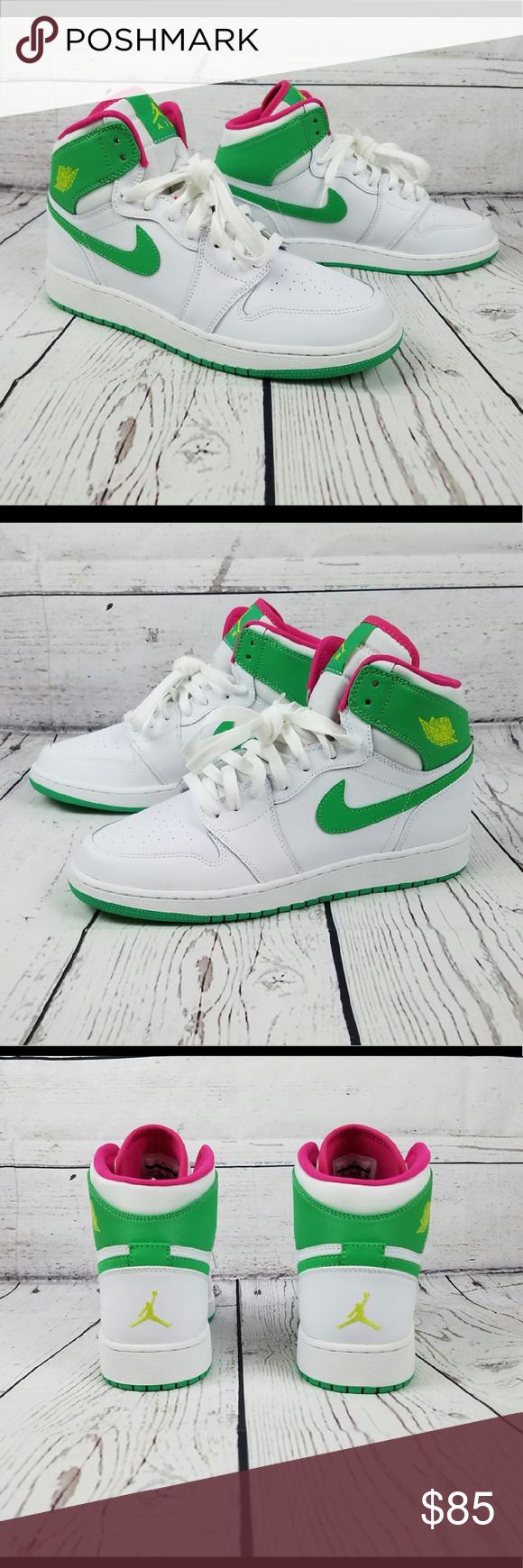 sports shoes bddc7 3fdb2 Air Jordan 1 Retro High GG NEW! White Gamma Green-VVD Pink 8Y   9.5 Womens  Never worn Nike Shoes Athletic Shoes