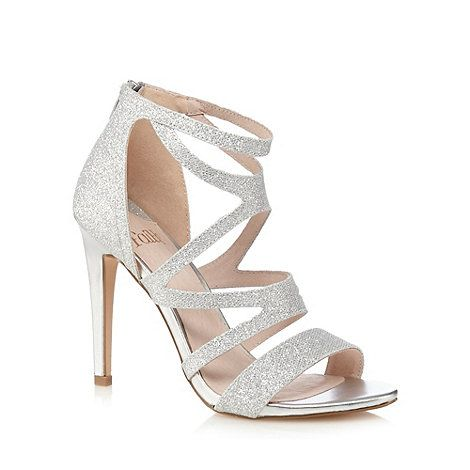 dc0f06c7fd1 Faith Silver  Lionel  glittery high sandals-