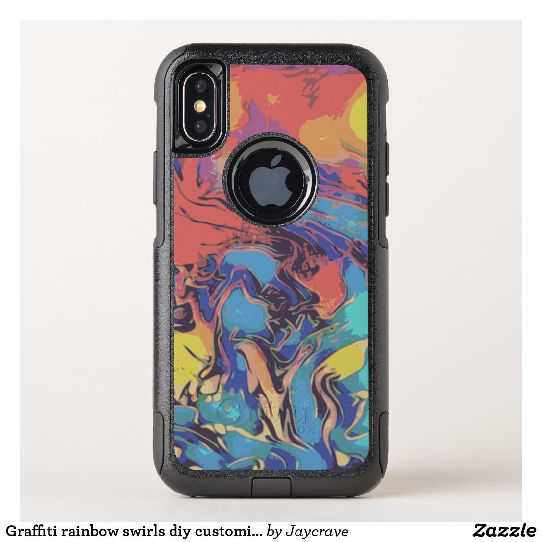 premium selection 568af 9497d Graffiti rainbow swirls diy customize your own OtterBox iPhone case ...