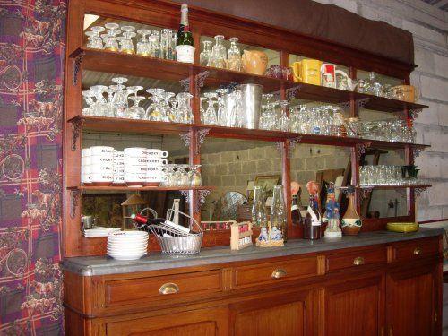 Arrière verrier de corps 2 de miroir à étagères bistrot Bar PX8nk0wO