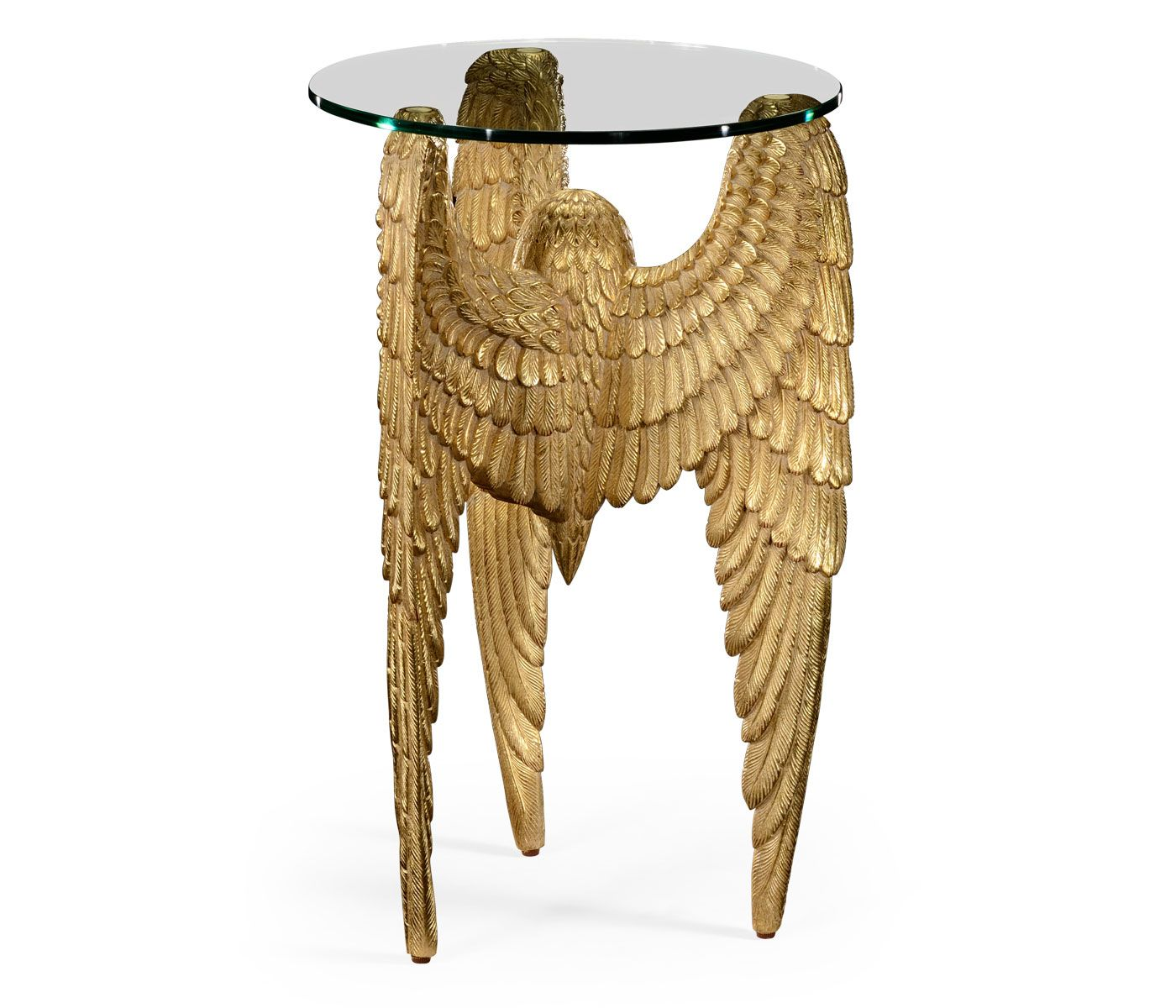 Limited Production Design 26 Tall Gold Gilded Angels Wing Side Table Partner Wall