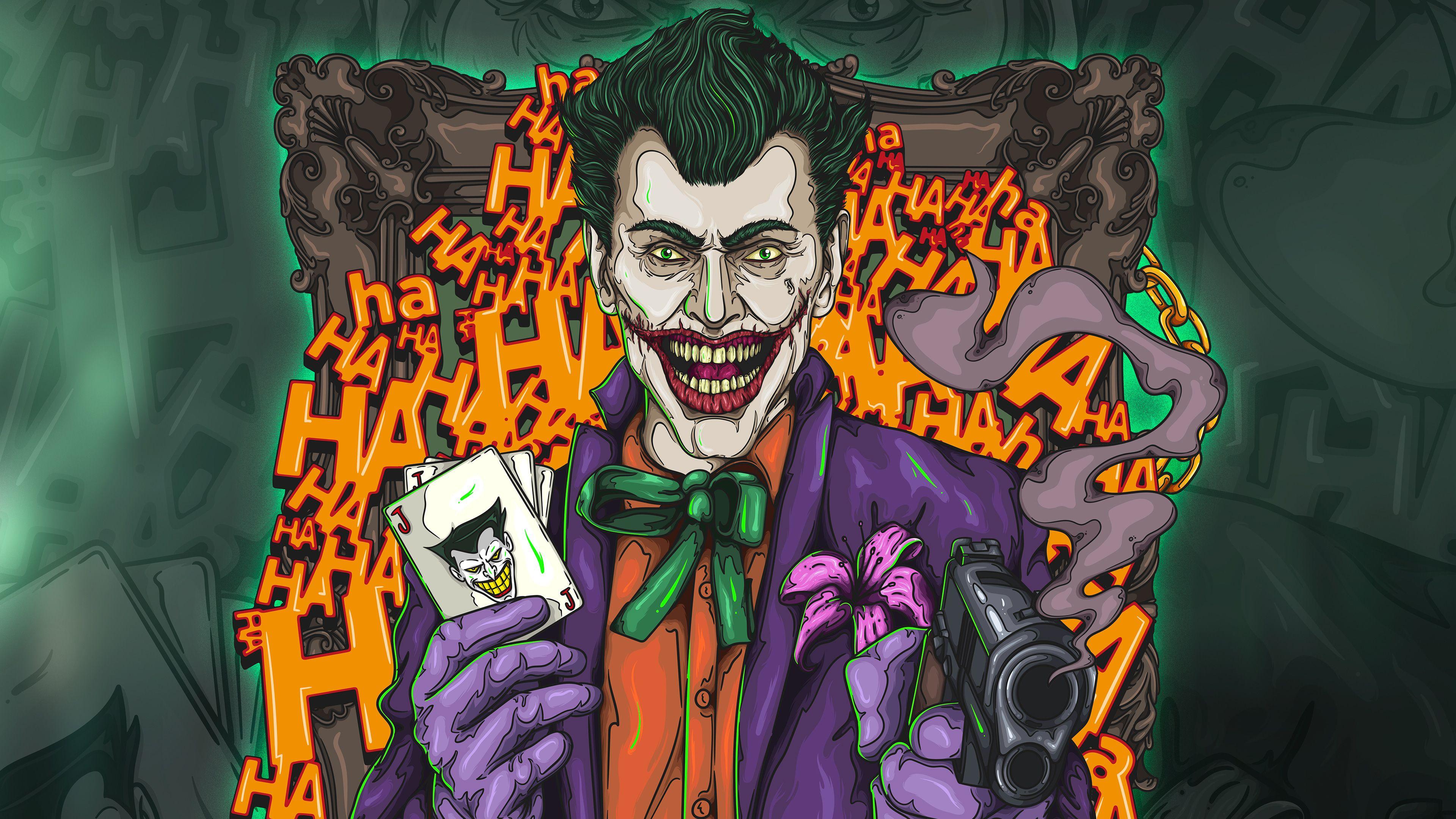 The Joker 4k Artwork Supervillain Wallpapers Superheroes Wallpapers Joker Wallpapers Hd Wallpapers Di Joker Wallpapers Behance Wallpaper Joker Wallpaper Hd