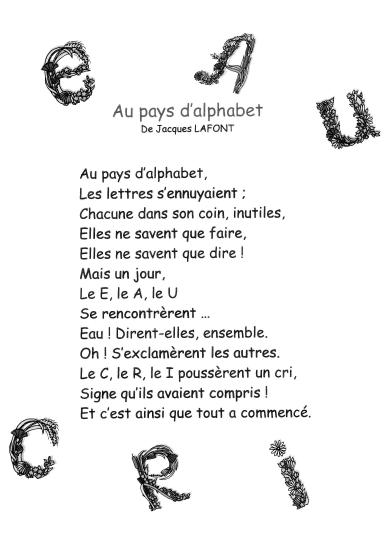 Poeme Avec Les Lettres De L'alphabet : poeme, lettres, l'alphabet, Épinglé, Poésie