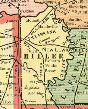 Early map of miller county arkansas including texarkana fouke early map of miller county arkansas including texarkana fouke brightstar bright star publicscrutiny Choice Image