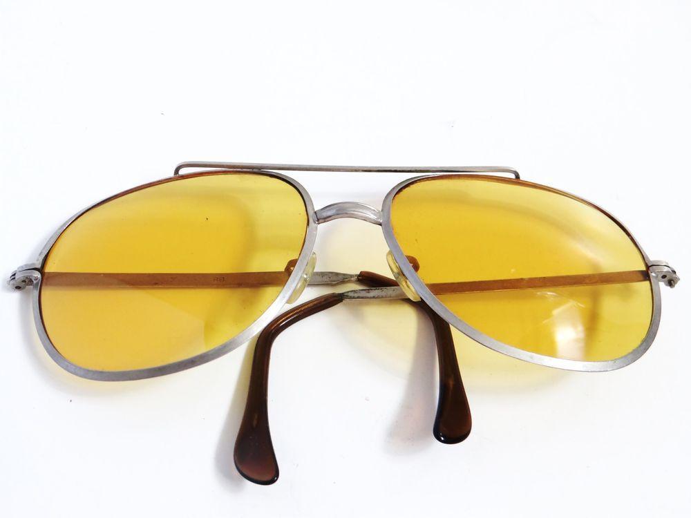 a361da8f7ba Men s vintage yellow tint sunglasses  glasses