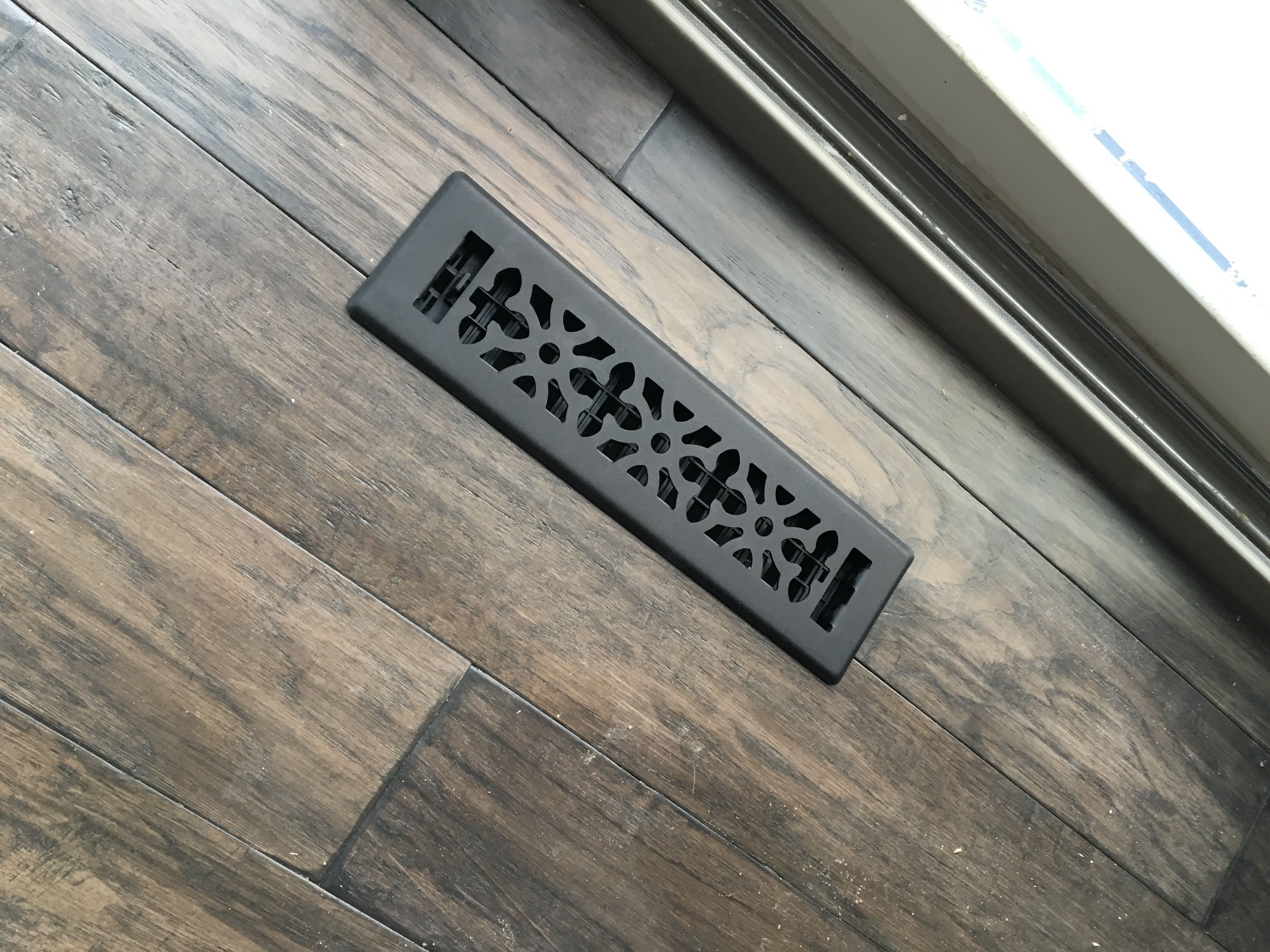 Gothic Register From Menards And Mannington Engineered Wood Floor In Hickory Smoke Wood Floor Colors Engineered Wood Floors Riverside House