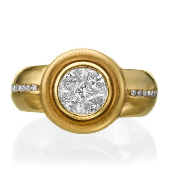 Marquise Diamond Ring 18K Gold Ring 0.83 by NewCenturyCreations