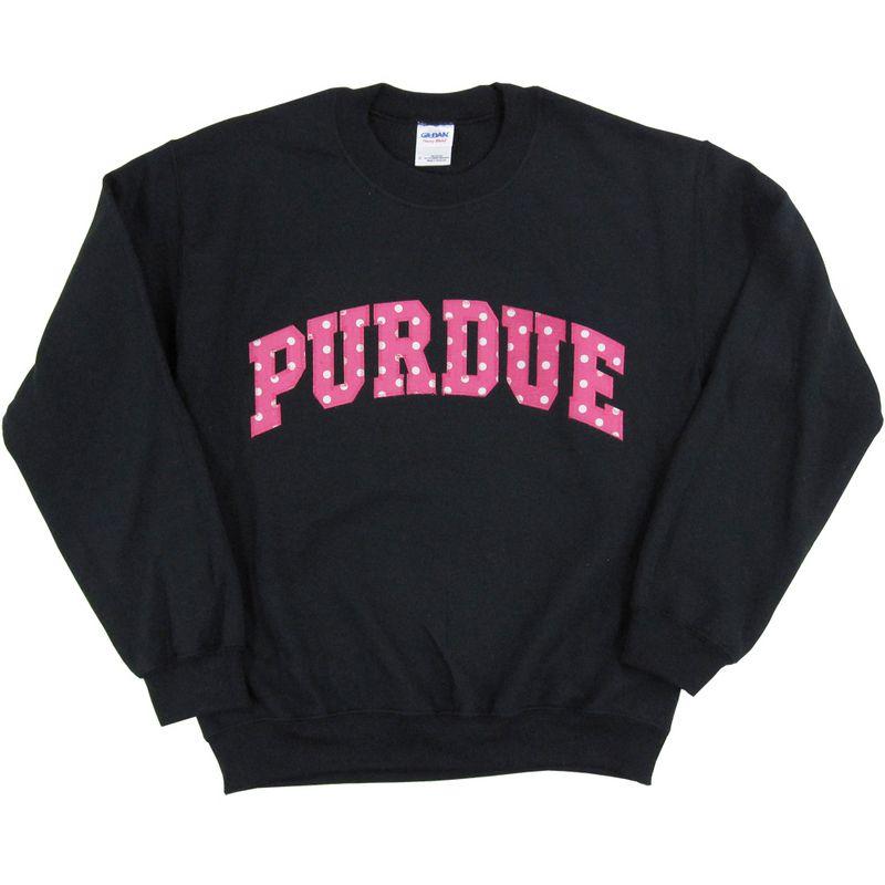Purdue Pink Polka Dot Crewneck Sweatshirt | College outfits