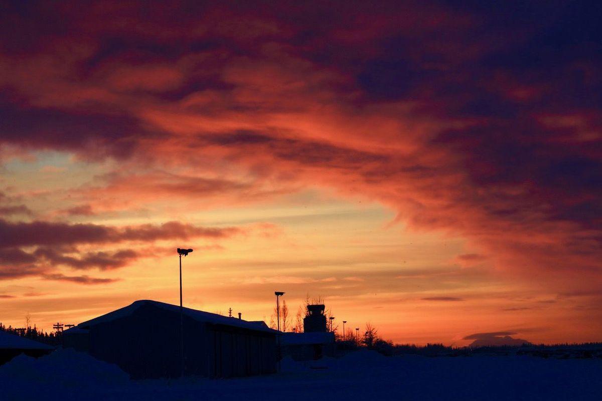 Sunset with Denali Alaska, National parks, Denali
