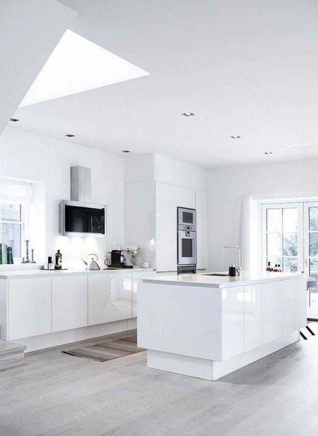 11 cocinas blancas modernas