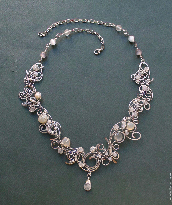 869e9c82c17a0 Necklaces & Beads handmade. Order necklace silver stream ( option). color  of magic. Livemaster. Art nouveau
