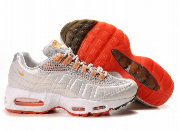 online store 65014 a19f0 Original Nike Air Max 95 Premium Womens Trainers Sneaker SivlerOrange On  Sale