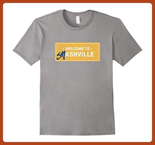 Mens Welcome to Smashville Hockey for Predators T-Shirt Medium Slate - Sports shirts (*Partner-Link)