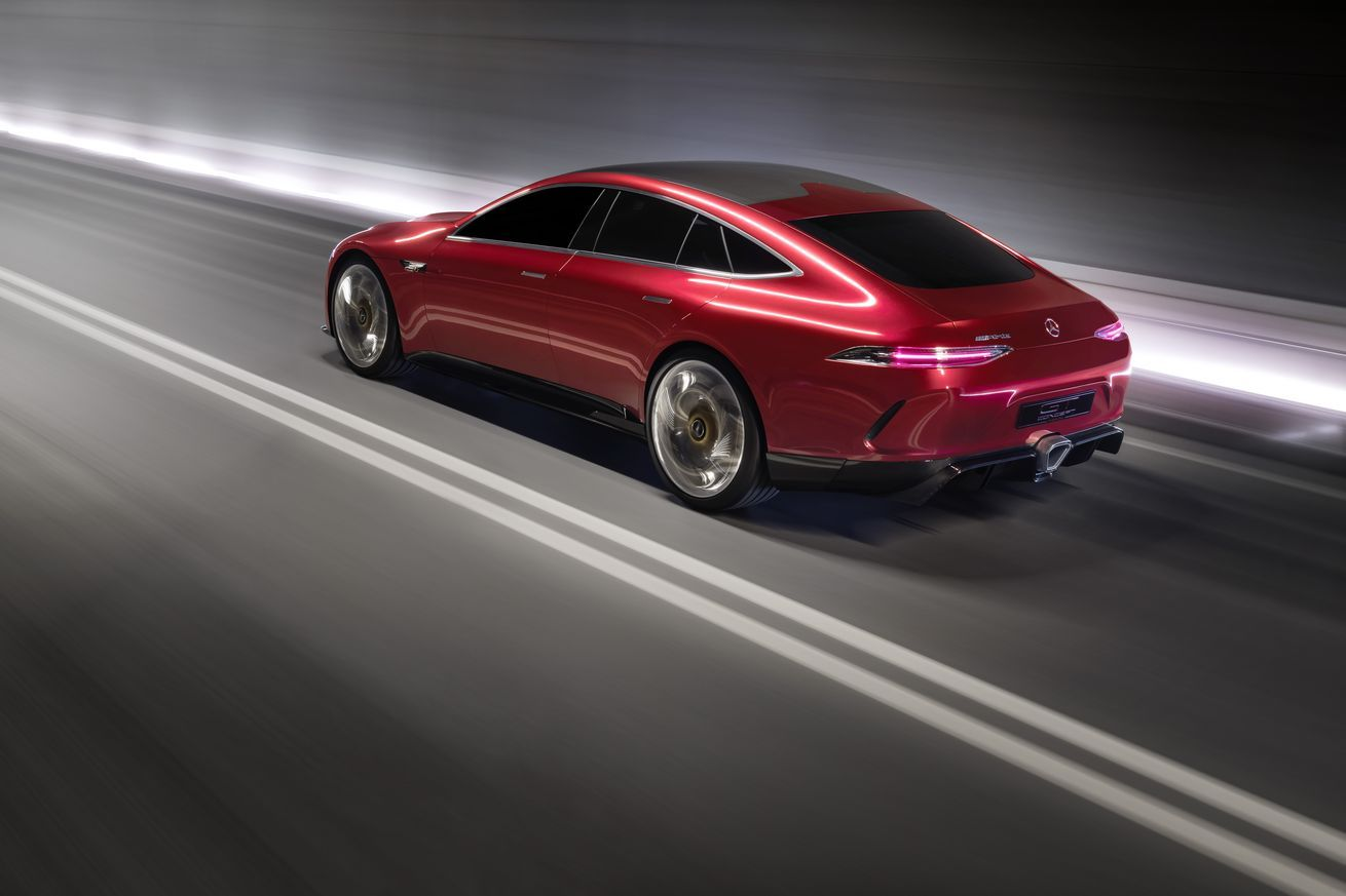 The Mercedes Amg Gt Concept Is An 805 Horsepower Four Door Land