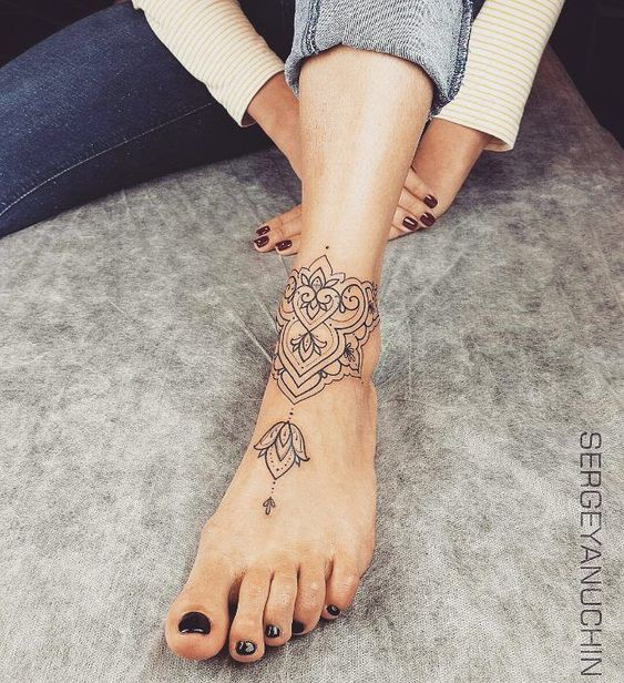67 Infinity Beautiful Ankle Bracelet Tattoos Design Anklet Tattoos