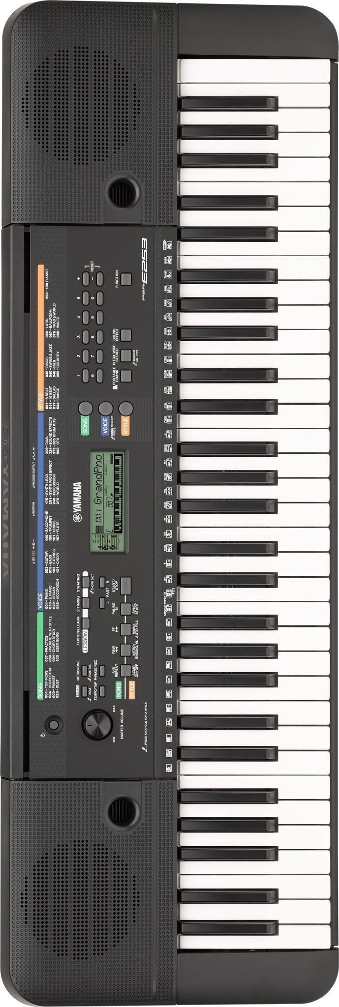 Yamaha PSR-E263 61-Key Portable Beginners Keyboard   learning to
