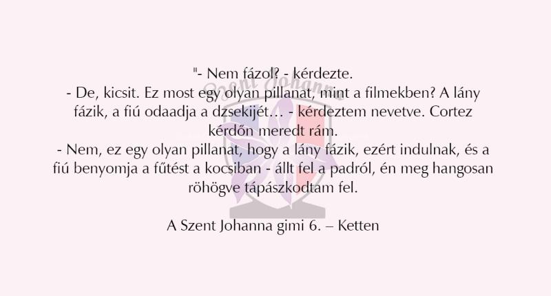 szjg 6 idézetek Szent Johanna Gimi   Könyvimádók, Könyv idézetek