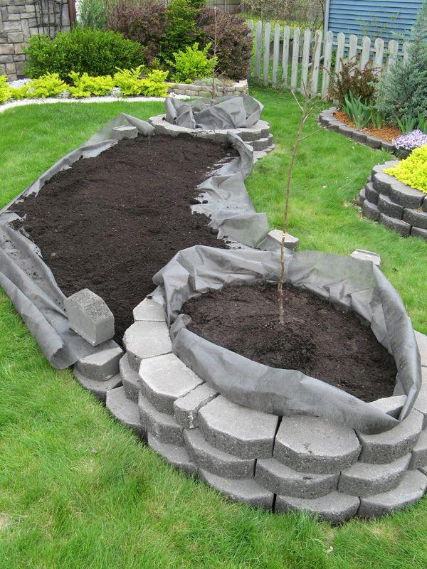 parterre de fleur en brique jardins pinterest. Black Bedroom Furniture Sets. Home Design Ideas