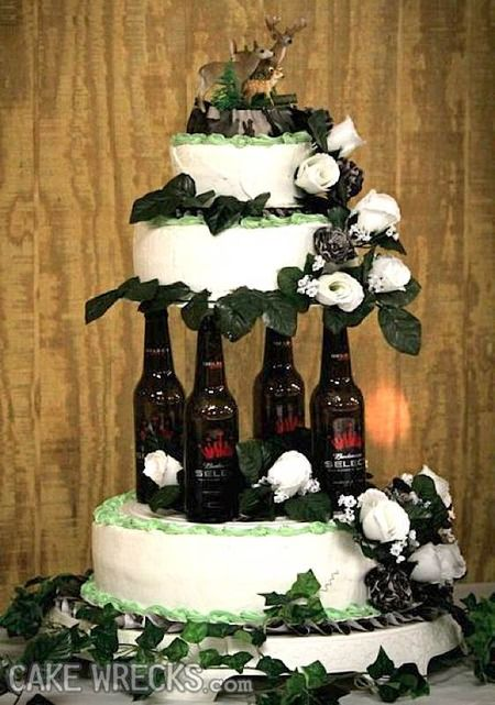 I Want To Have This As A Fake Wedding Cake Just To See The Look On - Beer Can Wedding Cake