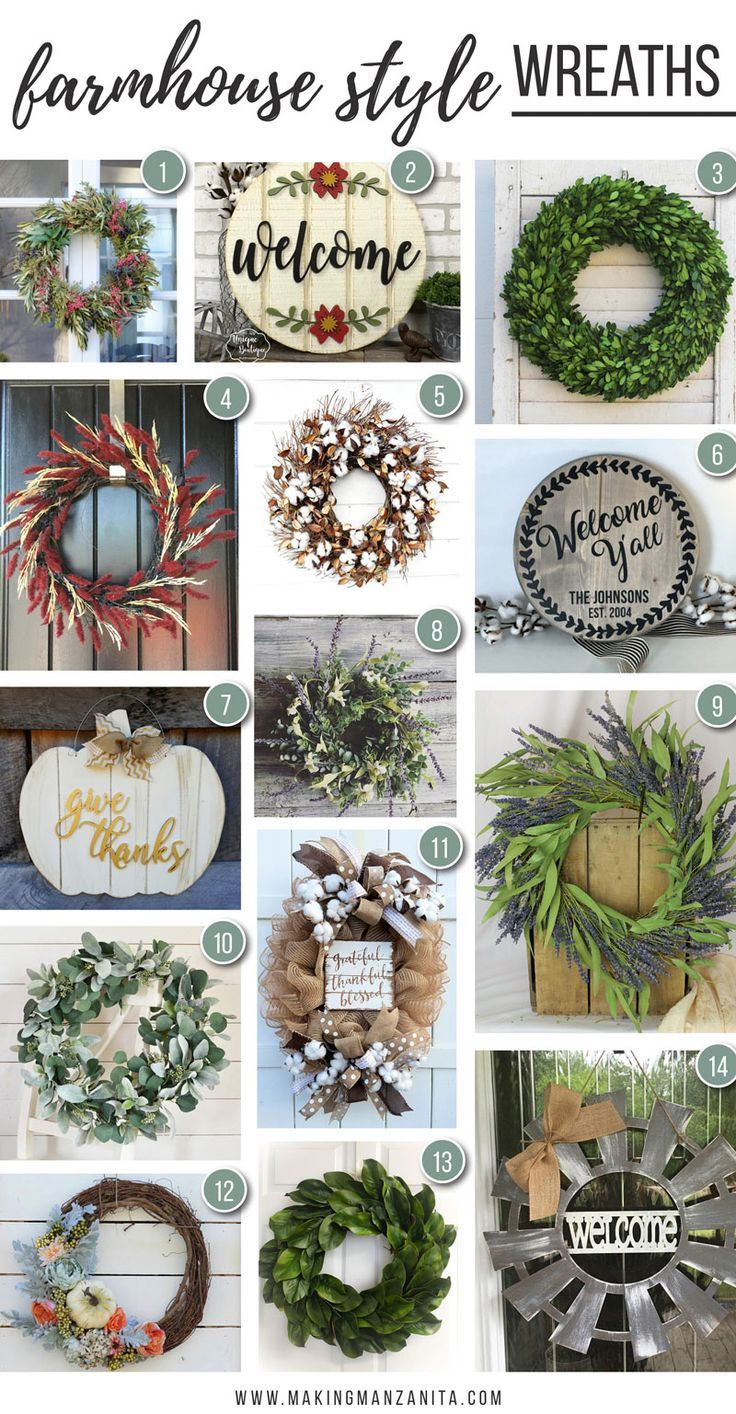 12 Farmhouse Wreaths That You Need For Your Front Door Farmhouse