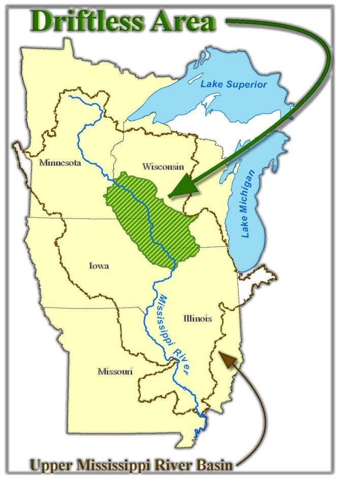 Wisconsins Driftless Area M A N L A N D Pinterest Wisconsin - Map of wisconsin lakes and rivers