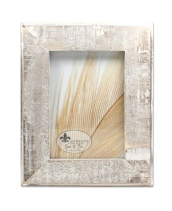 Lawrence Frames Distressed Gray Wood With White Wash Picture Frame