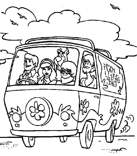 Car Scooby Doo Coloring Page  Kids Coloring Pages  Pinterest