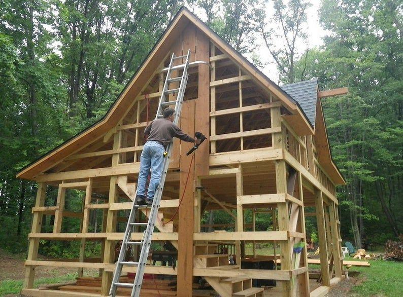 5 Studio and Shop Plans Complete Pole Barn Construction