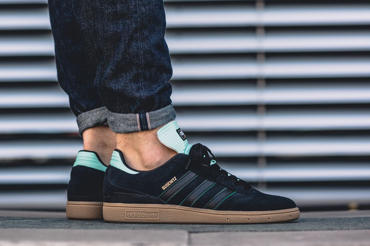 promo code d5908 7aa6d Dennis Busenitz s adidas Skateboarding signature silhouette is rocking  Tiffany-esque ice green accents for its latest release. The drop is built  on a gum s