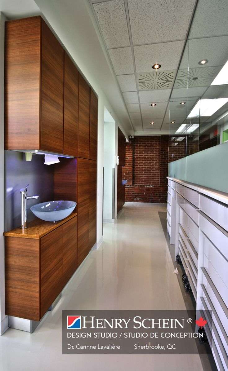 love the clean flat modern storage; possibly in exam room