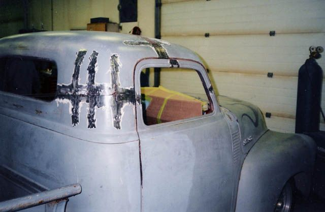 48 Chevy Truck Top Chop How To Auto Body Work Chevy Trucks Truck Top