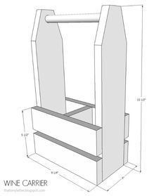 Diy Wine Carrier Free Plans Woodworking Projects Wood Wine Racks