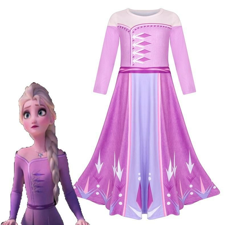 Deguisement pour Fille Halloween No/ël Cosplay Costume PrincesseDress Elsa Anna Belle b/ête AuroreRobe RaiponceCostume Jasmine CendrillonVetement Moana et Elena FINDPITAYA Lot 2 Robes Reinedesneiges