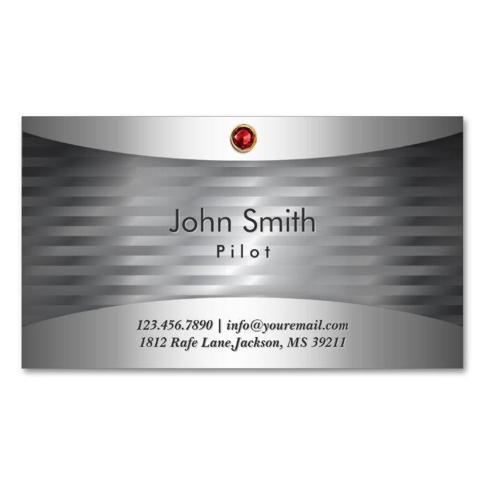 luxury steel pilotaviator business card - Aviator Business Card