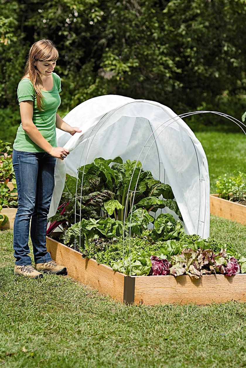 Super Hoops For Floating Garden Row Covers And Frost Gardeners