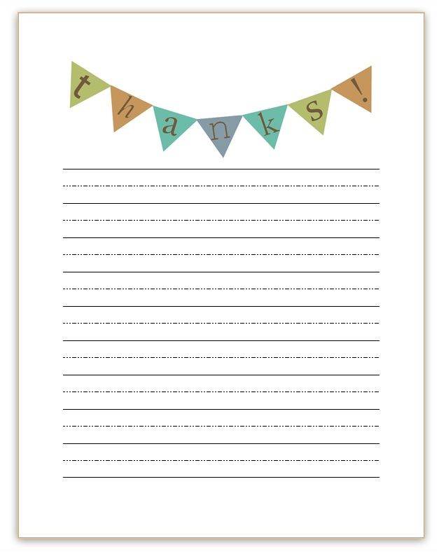 Thank You Notes Printable Awesome Mama Printables Pinterest - printable writing paper template