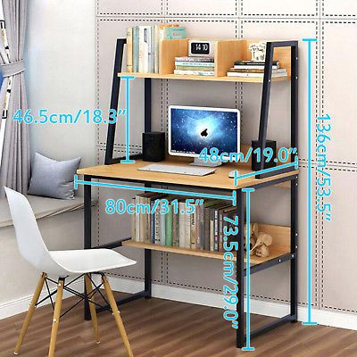 Details about 80CM Shelves Kids Study Laptop Table