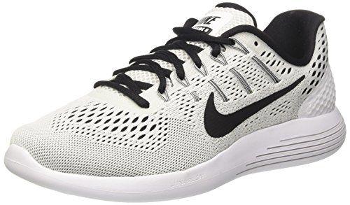 Nike Womens Lunarglide 8 White/Black Running Shoe Size 8