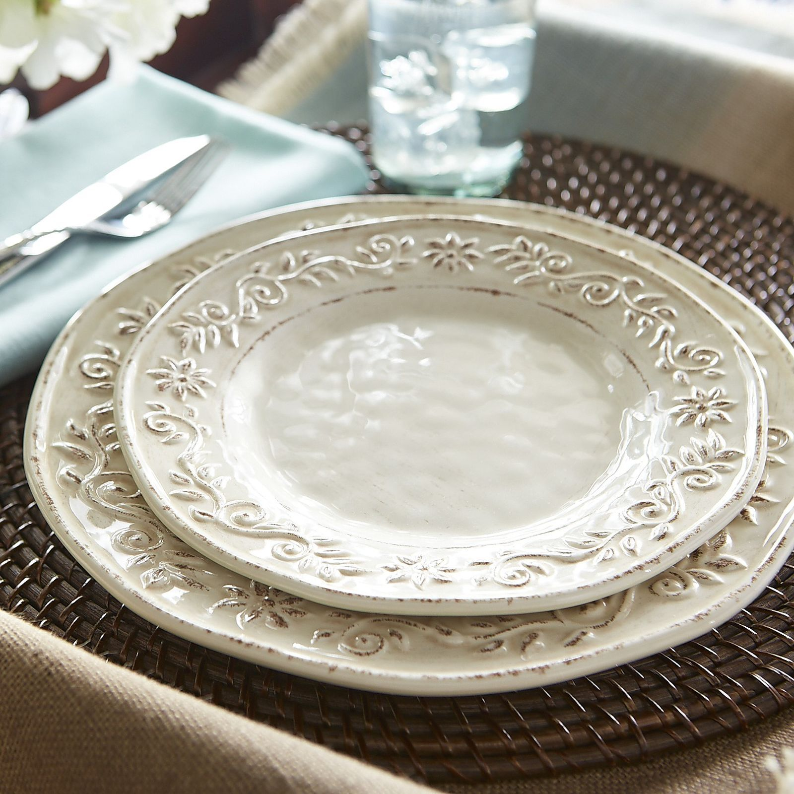 Classic Italian style meets modern melamine. Featuring a distressed embossed pattern these classic beauties are ideal for any setting under the sun. & Classic Italian style meets modern melamine. Featuring a distressed ...