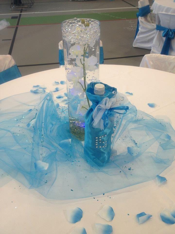 Quinceanera Centerpieces Blue quinceanera cen...