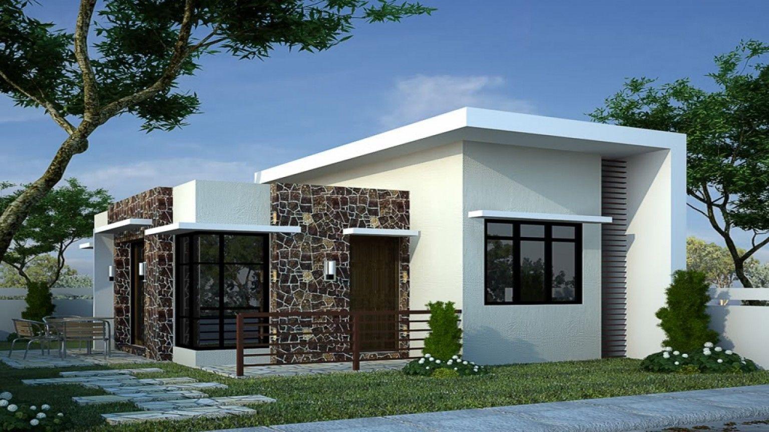 Simple Bungalow House With Terrace   Desain depan rumah, Desain ...