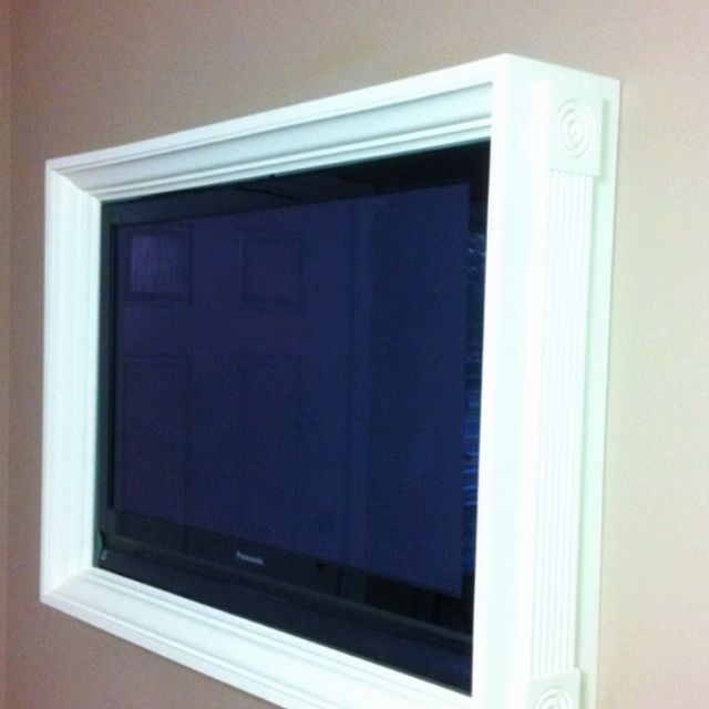 Frame around TV | For the Home | Pinterest | TVs, Tv frames and ...