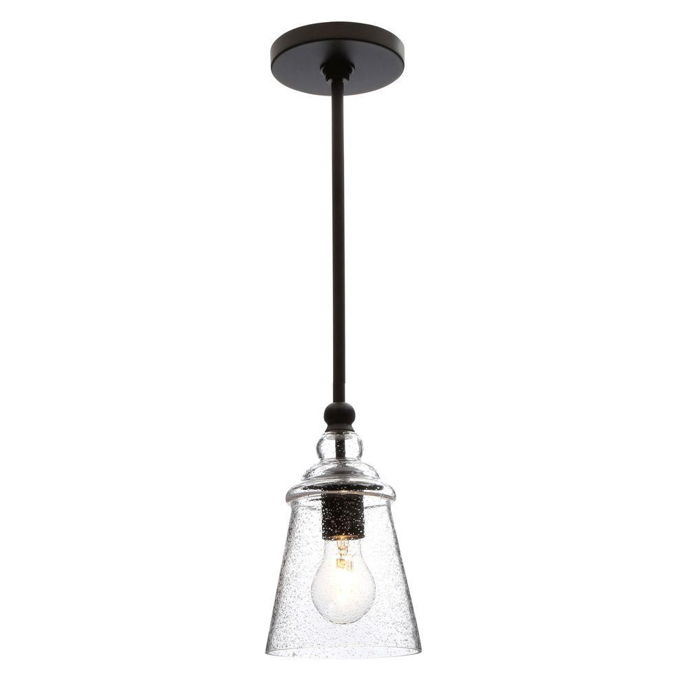 Feiss Urban Renewal 1 Light Oil Rubbed Bronze Pendant P1261orb The Home Depot