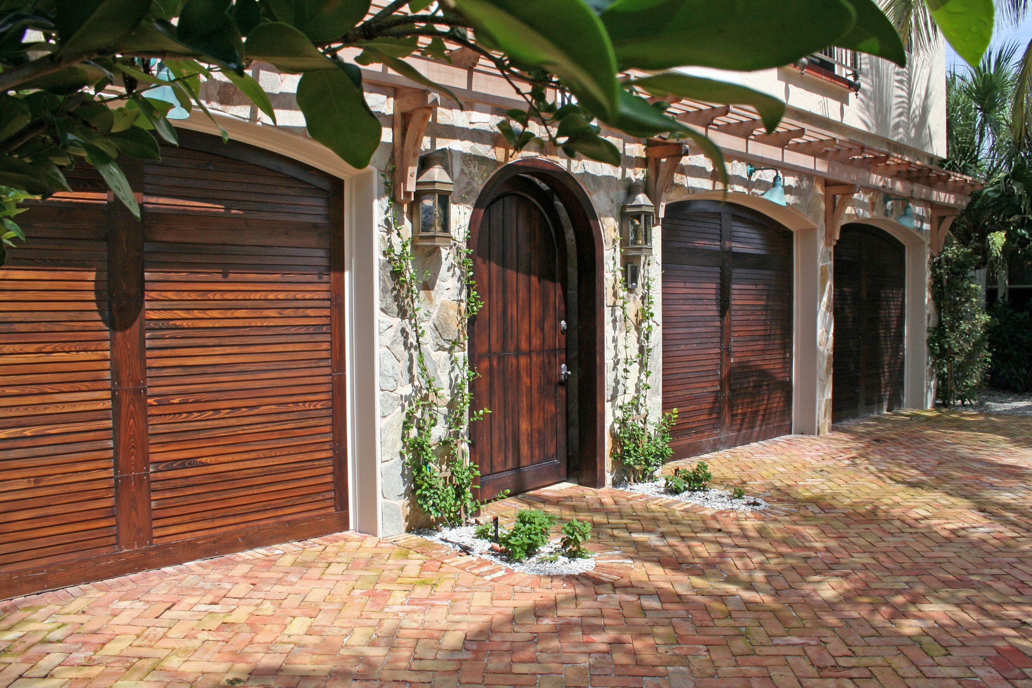 Florida Cypress, Inc. - Select Cypress, Stained,  Garage & Entryway. Ft. Lauderdale, FL.