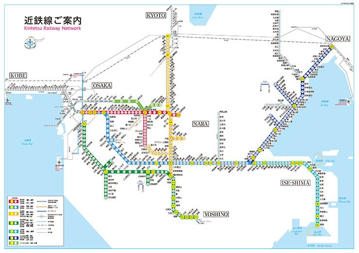 近畿日本鉄道 路線図・停車駅のご案内