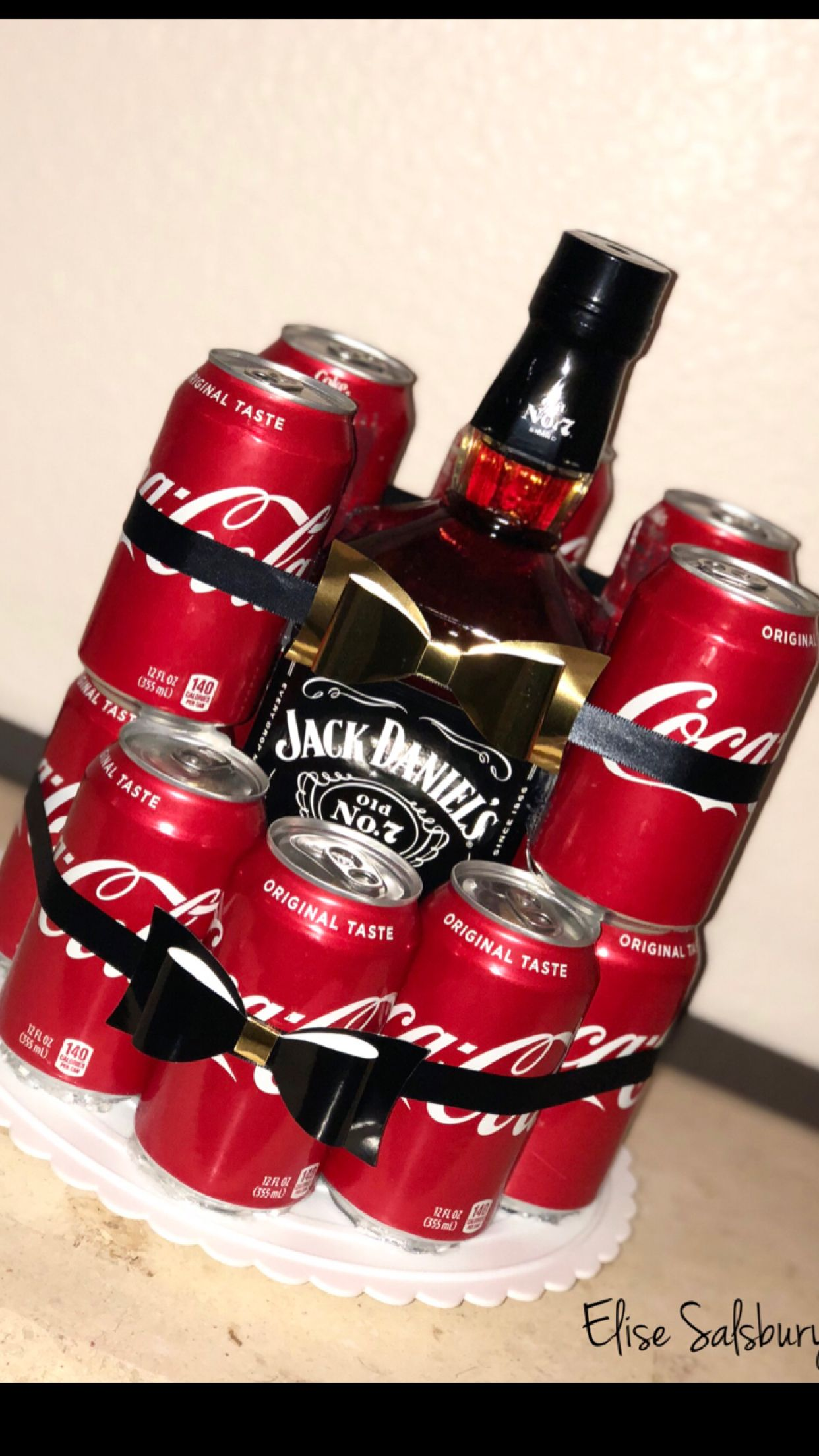 Jack Daniels Birthday Gift Jackandcoke Jackdaniels Sodacake Boozecake Mom Birthday Crafts Jack Daniels Birthday Grandpa Birthday Gifts