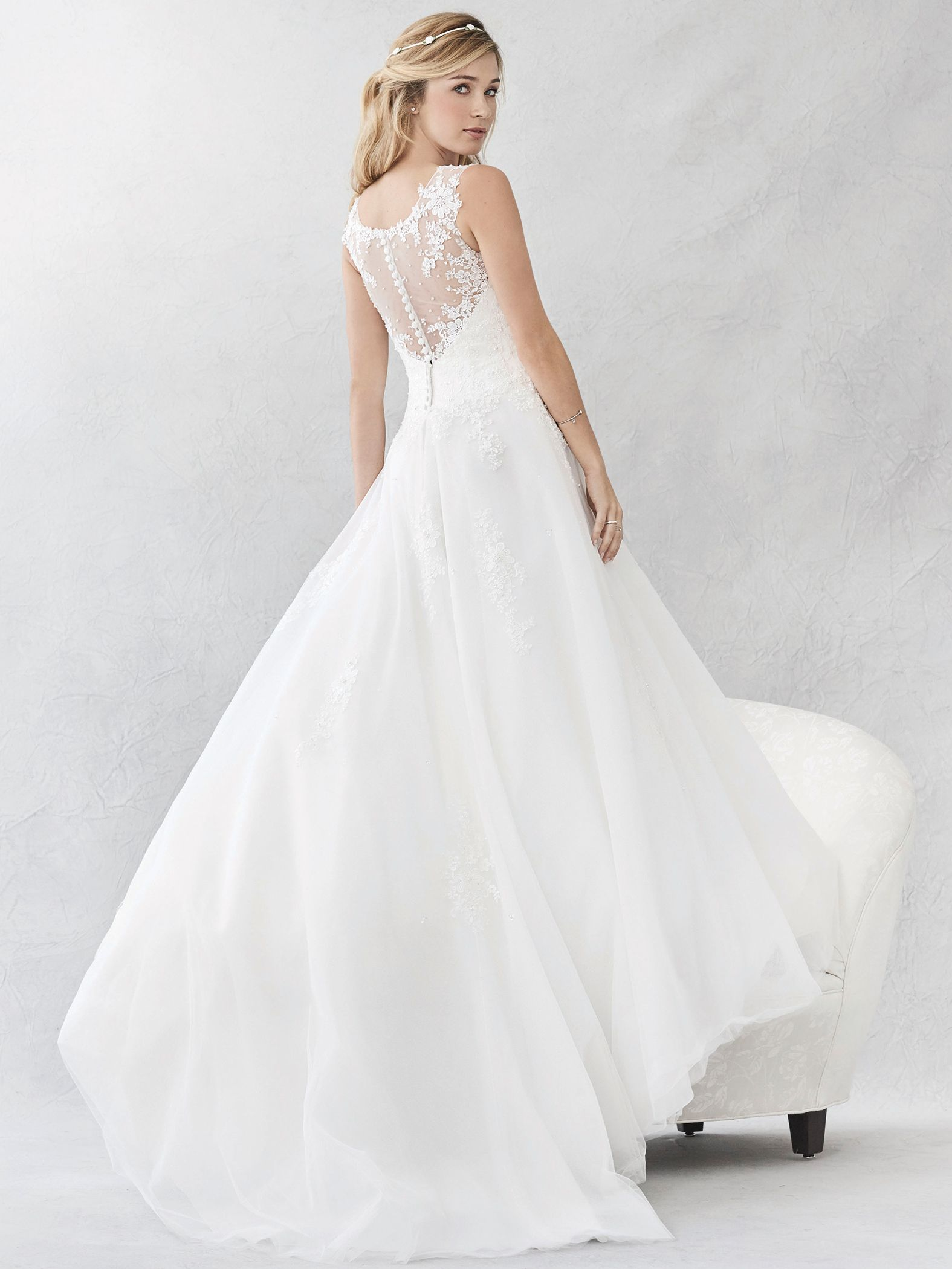 bb0960378d6a9 Ella Rosa Style BE378 | sheer lace illusion back | romantic wedding dress | bridal  gown