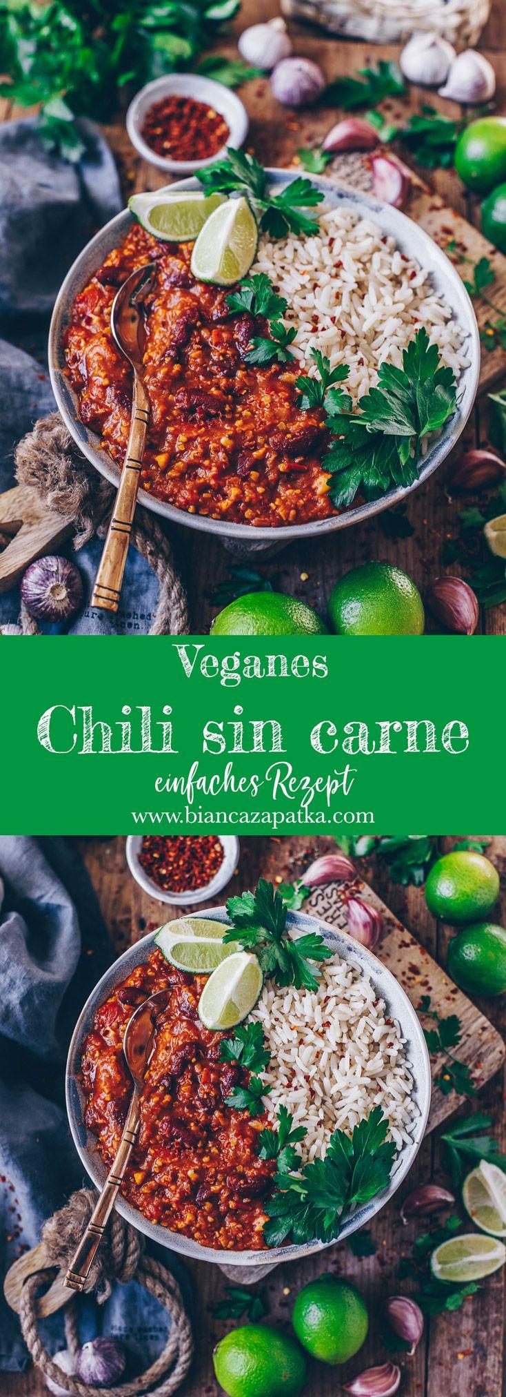 Chili sin carne mit Reis (vegan #gezondeten