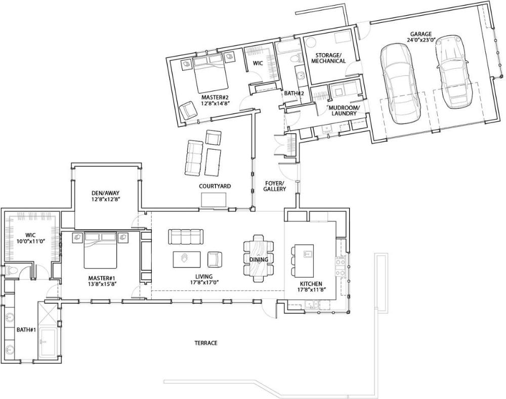 Modern House Plan 5829